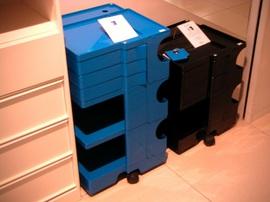 ボビーワゴン,ワゴン,プラスチック,青,カラフル